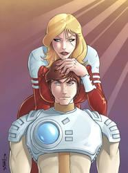 Captain Future and Joan by Killersha