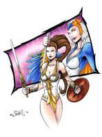 Masters of the Universe - Teela + Sorceress by Killersha