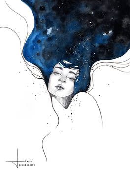 with her mind in space