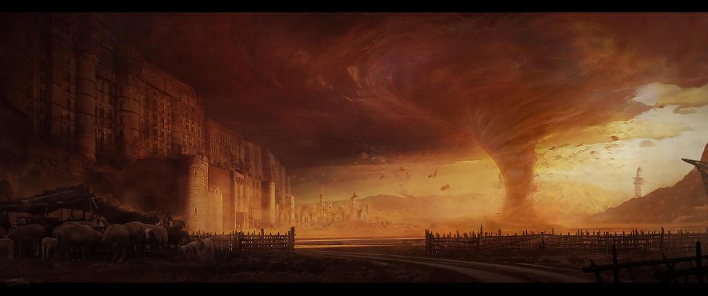 Desert castle by wolfj2