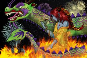 Shyvana the Half Dragon by RancidAlice