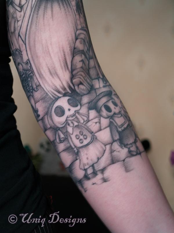 corpse bride tattoo detail by moon q on deviantart. Black Bedroom Furniture Sets. Home Design Ideas