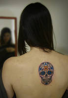 tattoo mexican skull 456 by FraH