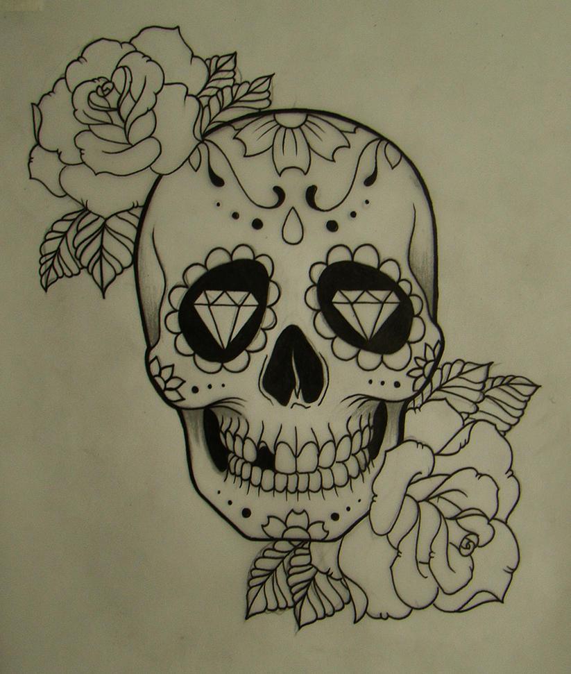 Pics For > Skull Drawings Tumblr