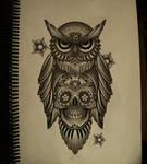 owl mexican skull