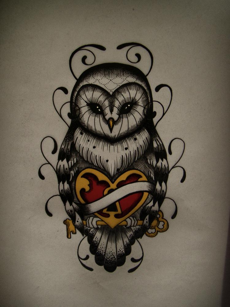 owl drawing heart by frah on deviantart. Black Bedroom Furniture Sets. Home Design Ideas