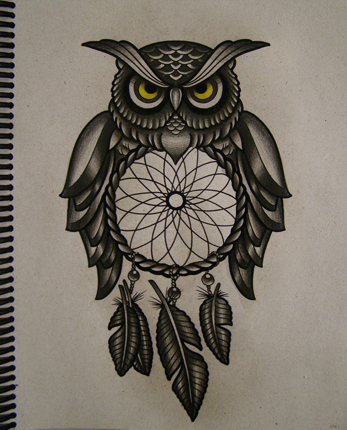 Owl Line Drawing Tattoo : Owl filter of dreams by frah on deviantart