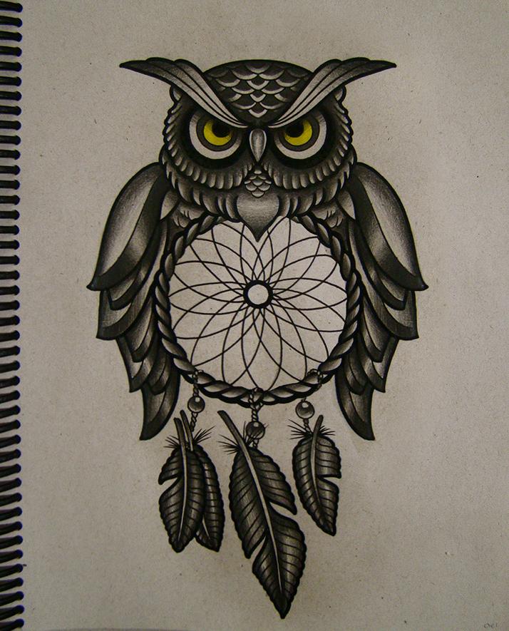 Cool owl drawings - photo#9