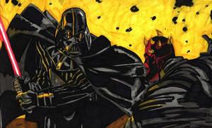 Vader vs Maul by rockisdeaddclxvi