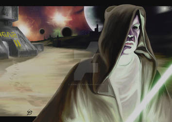 Jedi con spada laser