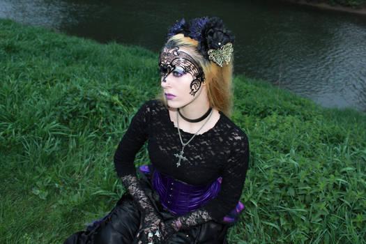 Gothic venetian mask Stock