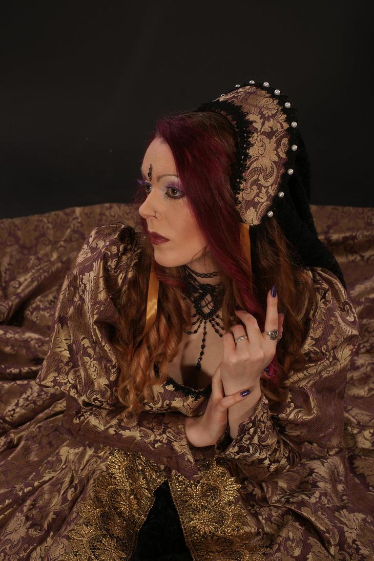 golden dress stock 2 by MadaleySelket