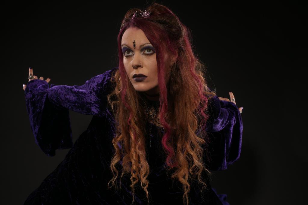 gothic dark purple stock by MadaleySelket