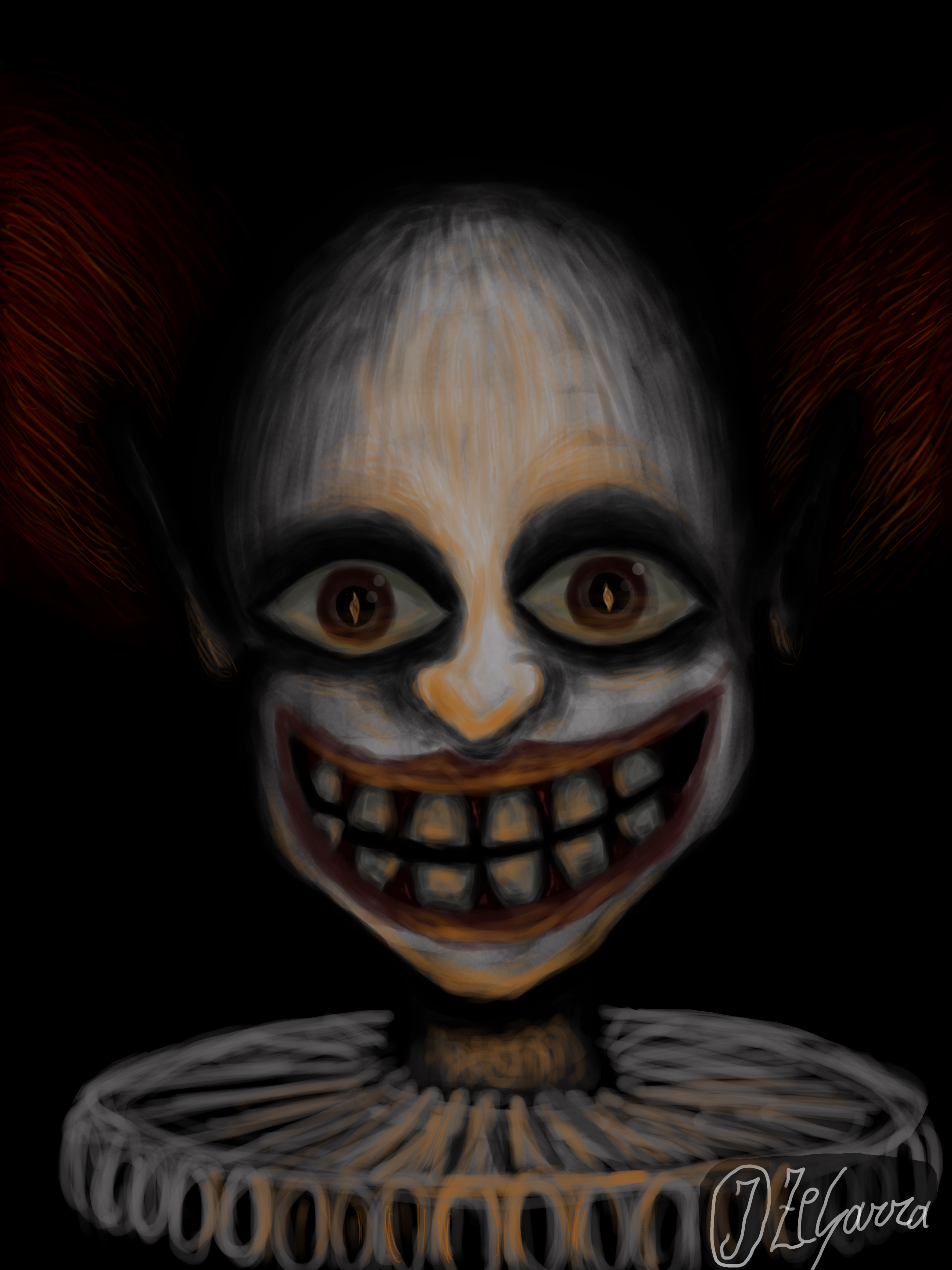 Creepy Clown by J-Zegarra on DeviantArt Creepy Pictures