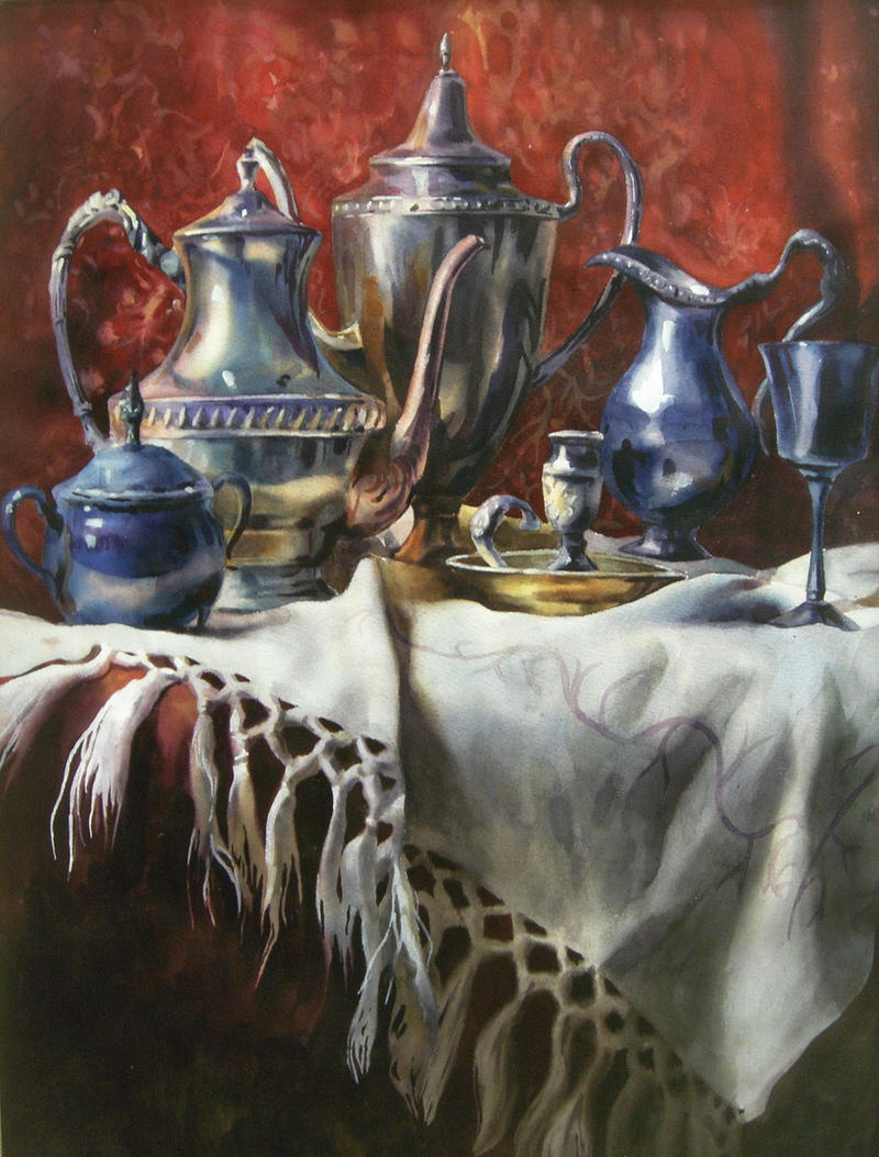 Watercolor_silverware by HOLYSHOLYS