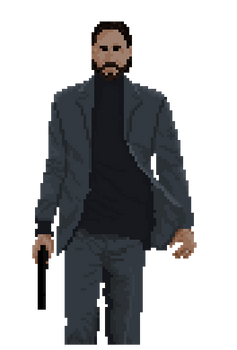 John Wick Pixel Art