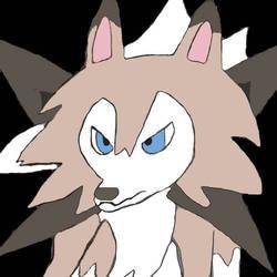 Anotha Lycanroc 0  by moonwolf3533
