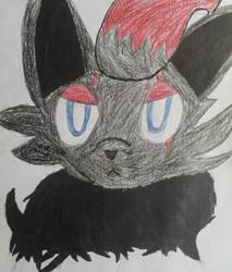Kura The Zorua by moonwolf3533