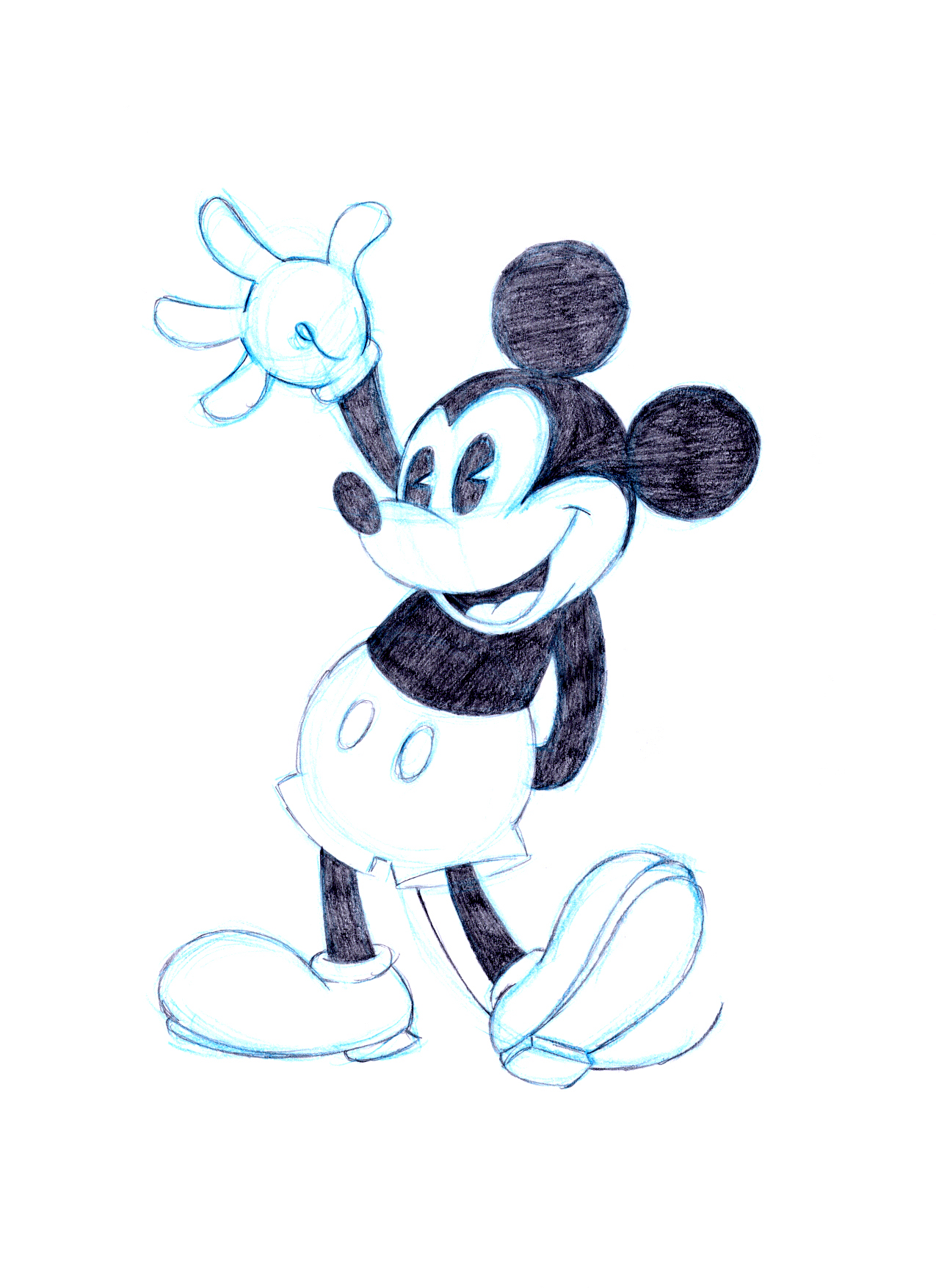 Mickey Mouse--Sketch by PadawanLinea