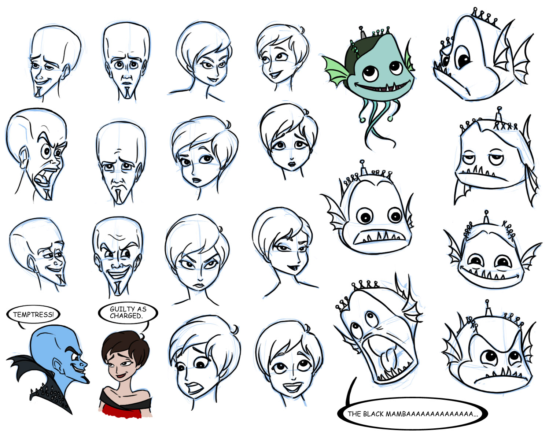 megamind sketchdump 2 by padawanlinea on deviantart