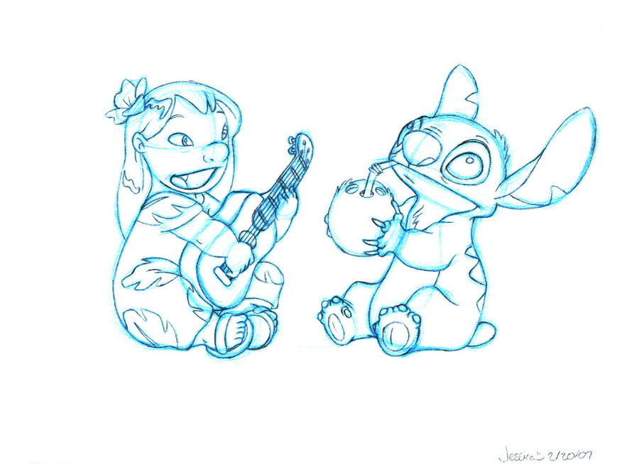 Drawings of Lilo And Stitch Lilo And Stitch Sketch 1 by