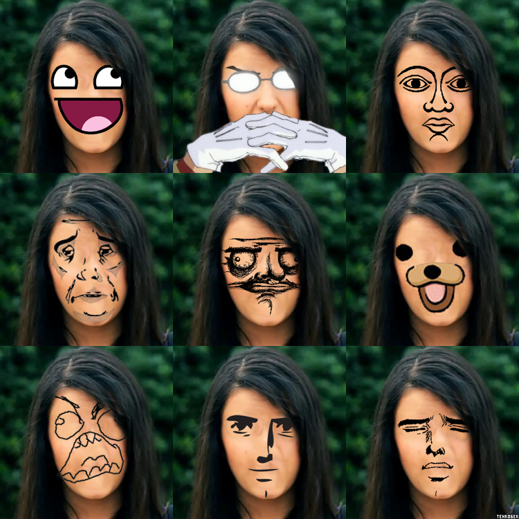 The Faces of Rebecca Black by dbgtrgr