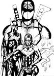 Nightwing versus Deathstroke cover prototype