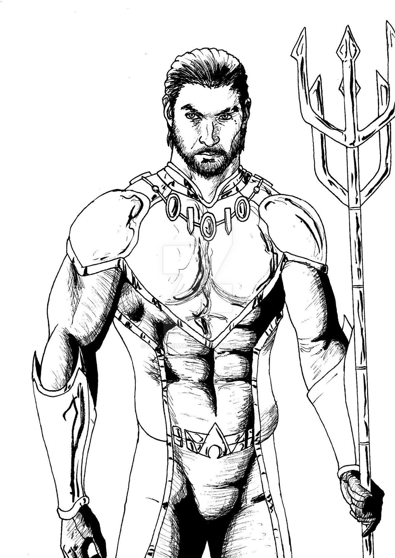 Jason Momoa As Aquaman Bw 001 By Lucasboltagon On Deviantart