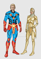 The Eternals - Ikaris  Thena redesigns - 12 2018