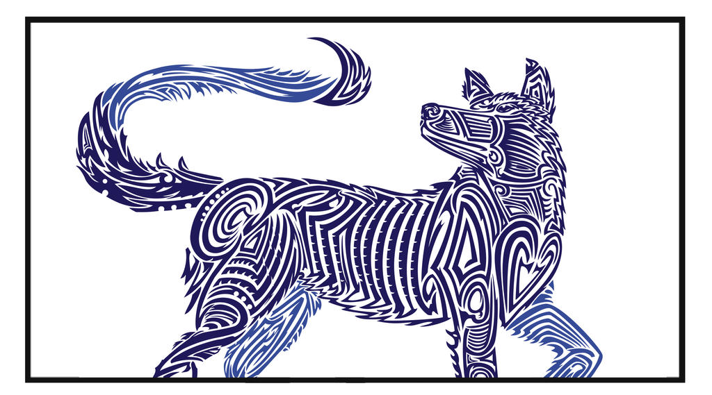 Tribal Wolf by Kaiazes