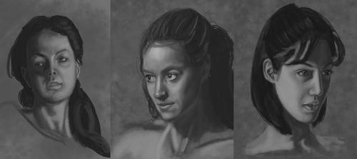 Assorted Portrait sketches by Kaiazes
