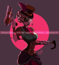 Steampunk Lady by Sh3lly