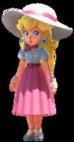 Peach in Summer Dress