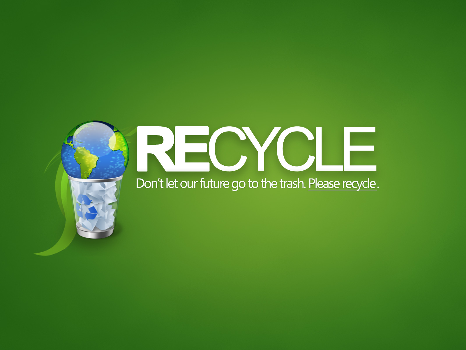 Recycle wallpaper 68019