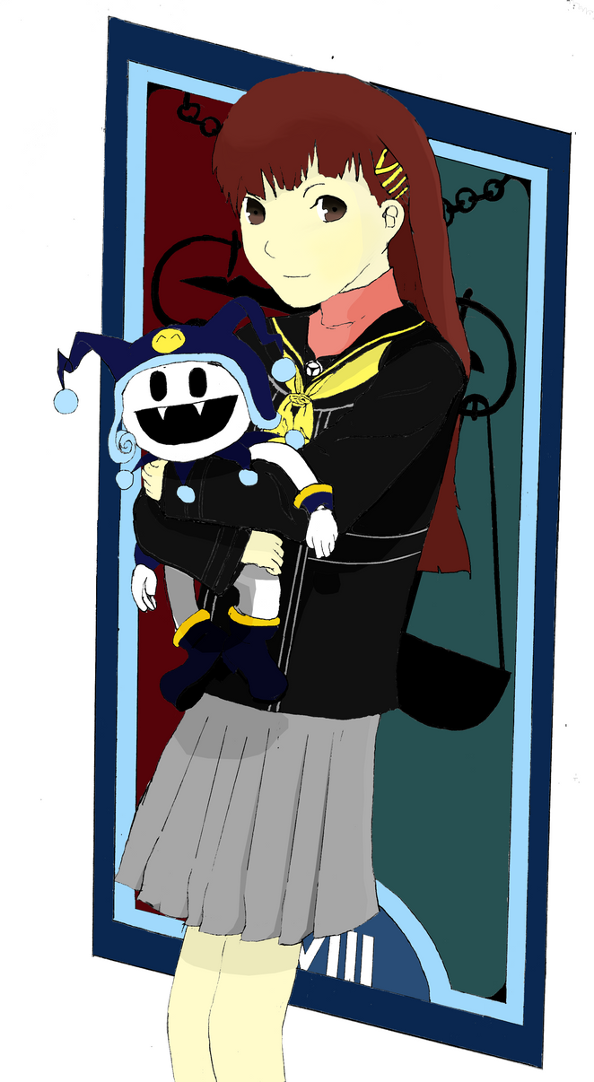 Persona4-Teen_Nanako+Jack_Frost Color #2 by GODxXx