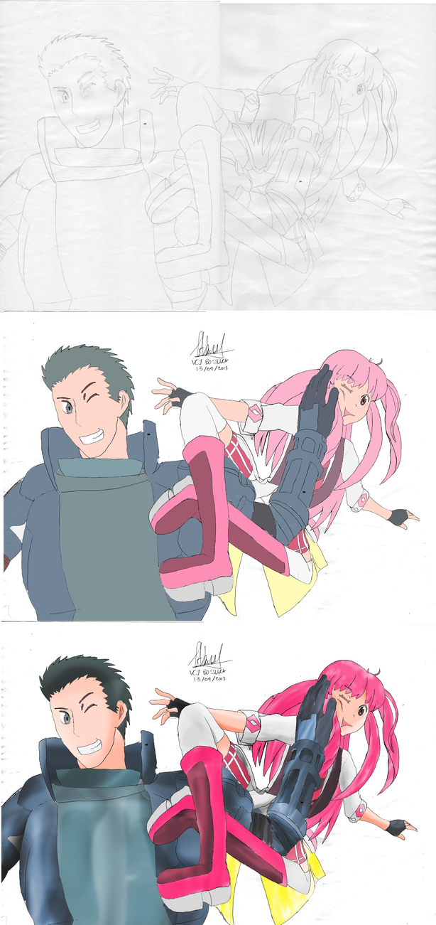 Sketch and Making of : Tetra + Naotsugu by GODxXx
