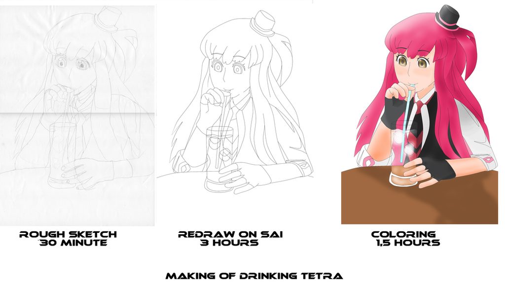 Making of Drinking Tetra by GODxXx