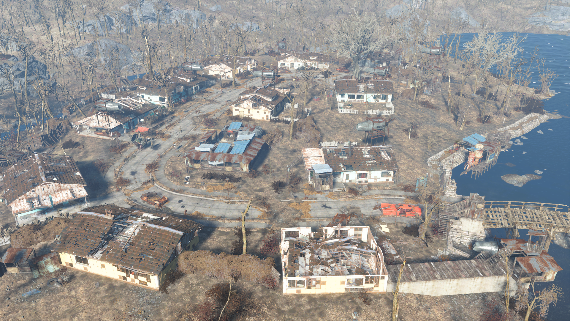 how to build a wall around sanctuary fallout 4