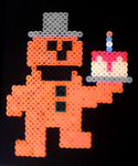 'Take cake to the children.' Freddy (Perler) by crazycreeper529