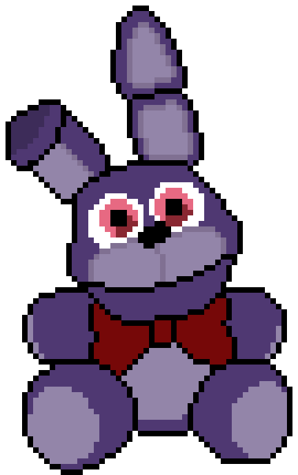 Bonnie Plush Pixel Art By Crazycreeper529 On Deviantart
