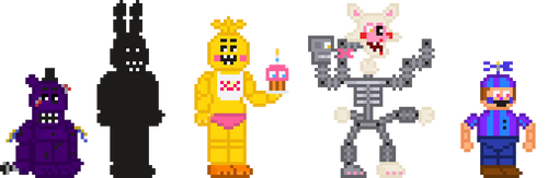 FNaF 2 Extras Stylized Sprites by crazycreeper529