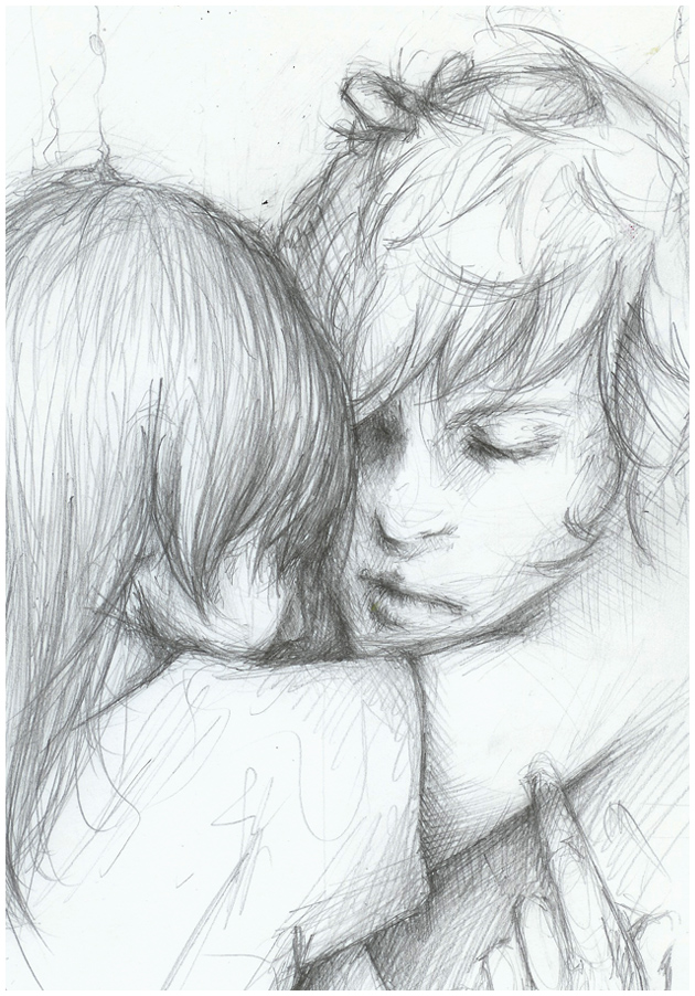 The gallery for --> Cute Couple Cuddling Drawing