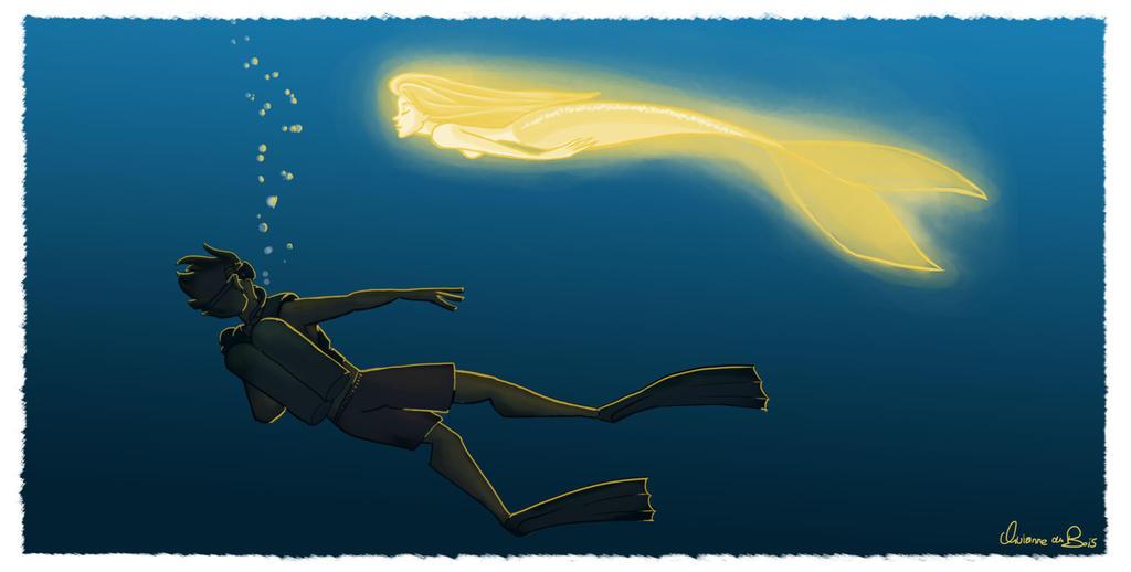 Goldfish Mermaid by Vijolea