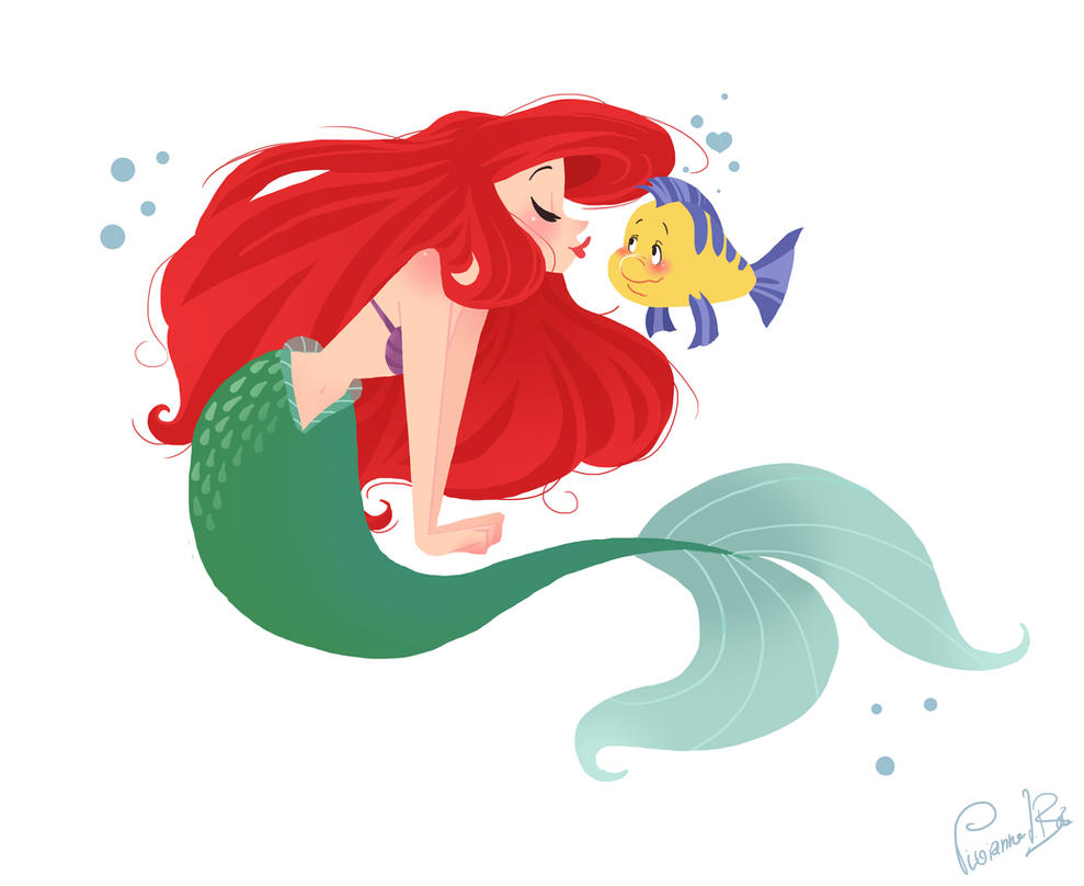 cute mermaid drawing that crush flounder has by vijolea on deviantart 973