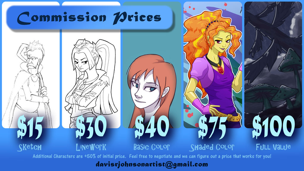 The Super Duper Official Commission Price Sheet!