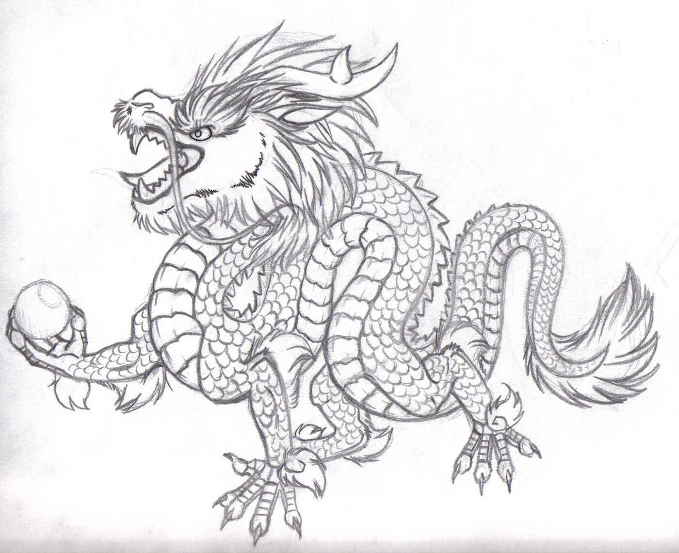 Chinese Dragon Drawings Easy Images amp Pictures Becuo