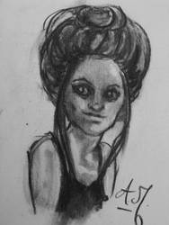 A girl by MishamigosArt