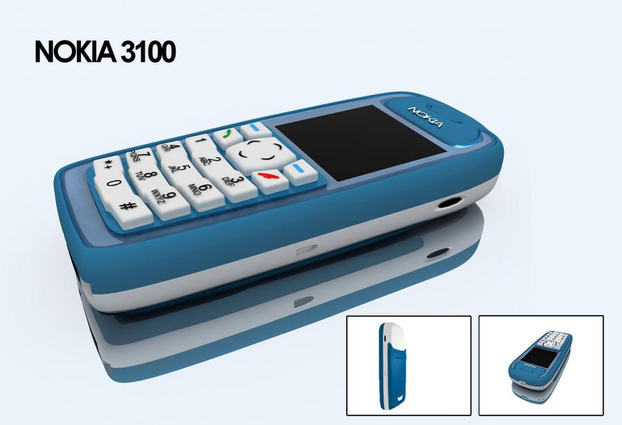 NOKIA 3100 3d vray by osmanassem