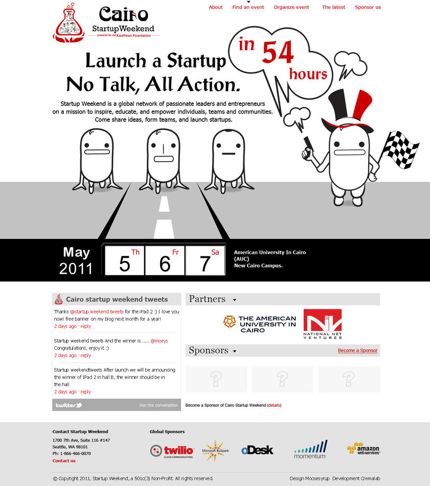 cairo startup weekend 2011 by osmanassem d3dfhko Web Design Interface Collection of Inspiration
