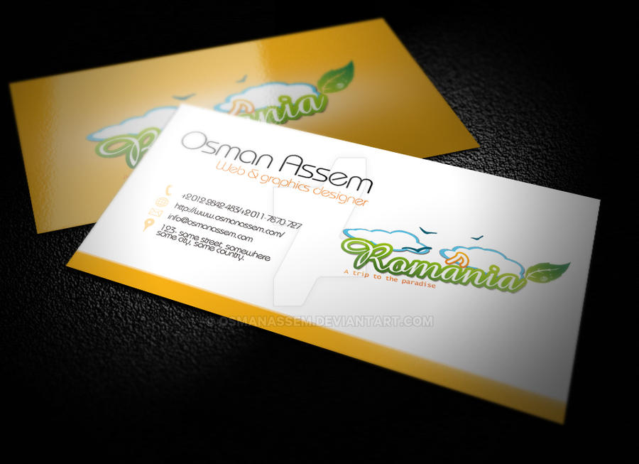 Romania Business Card by osmanassem